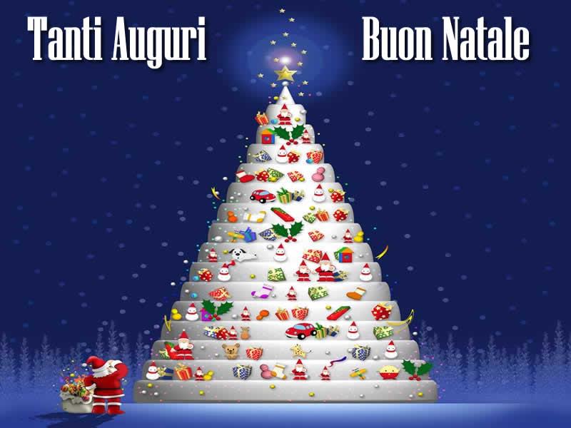 Alberi Di Natale Per Auguri.Immagini Natalizie Albero Di Natale Babbo Natale