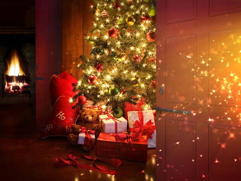 Albero Di Natale Regali.Immagine Di Natale Immagine Albero Di Natale Con Regali