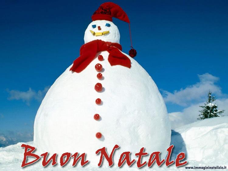 Foto di Natale Pupazzo di Neve