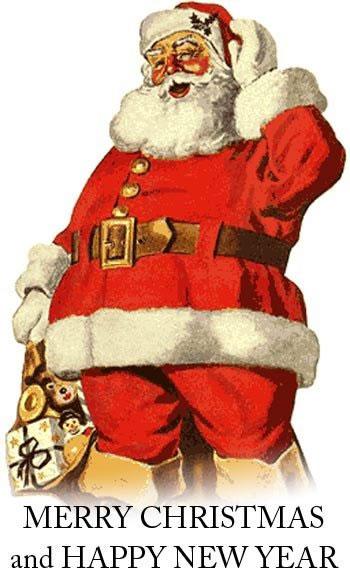 Immagini natalizie babbo natale con sacco dei doni