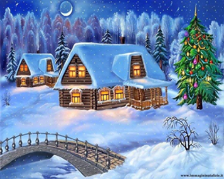 Immagini natalizie innevate