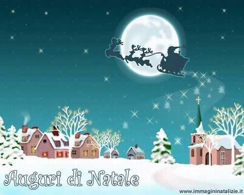 Babbo Natale con slitta